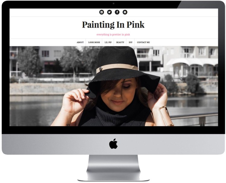 painting in pink